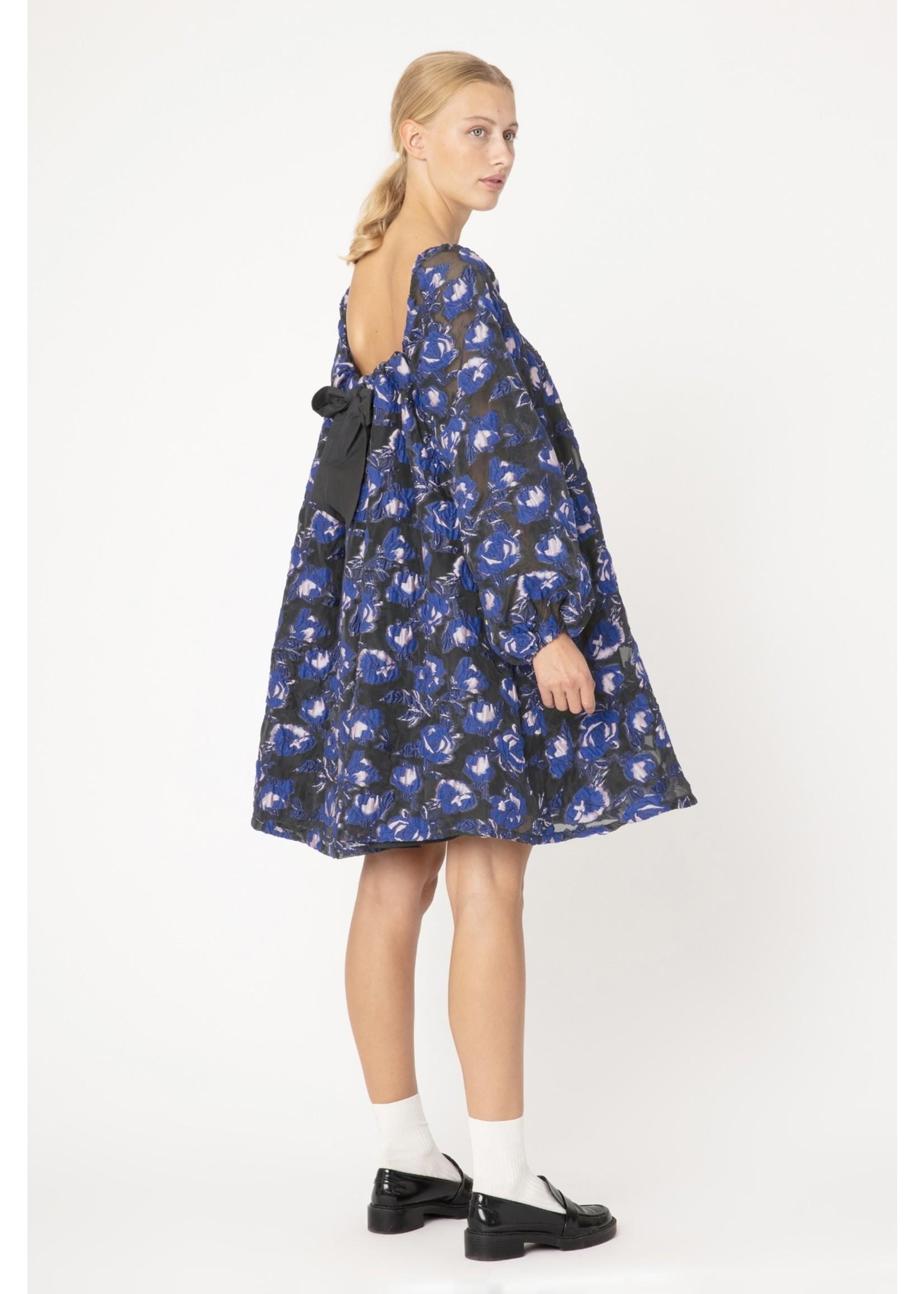 BOW DRESS ELECTRIC BLUE