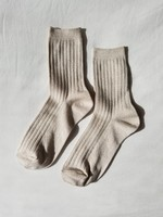 MODAL LUREX SOCKS IVORY GOLD