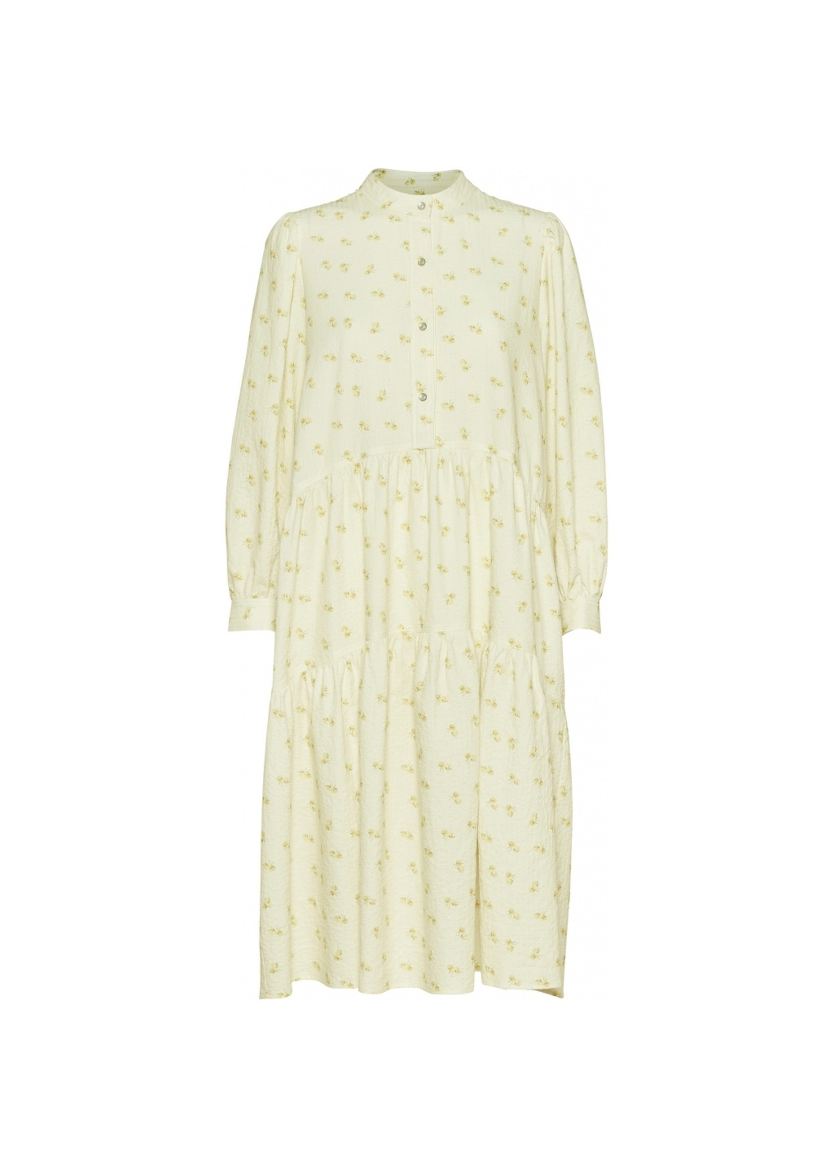 FLORAL DRESS LIGHT YELLOWD