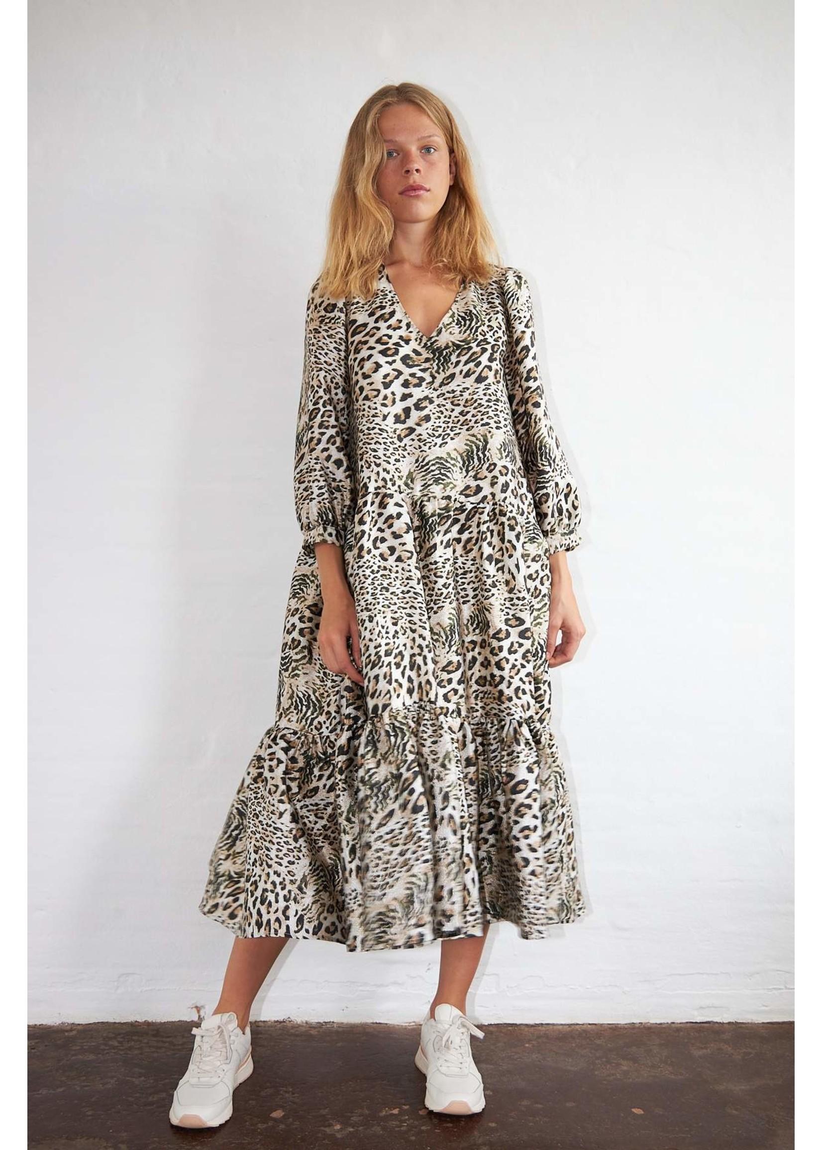 LEOPARD MIX DRESS