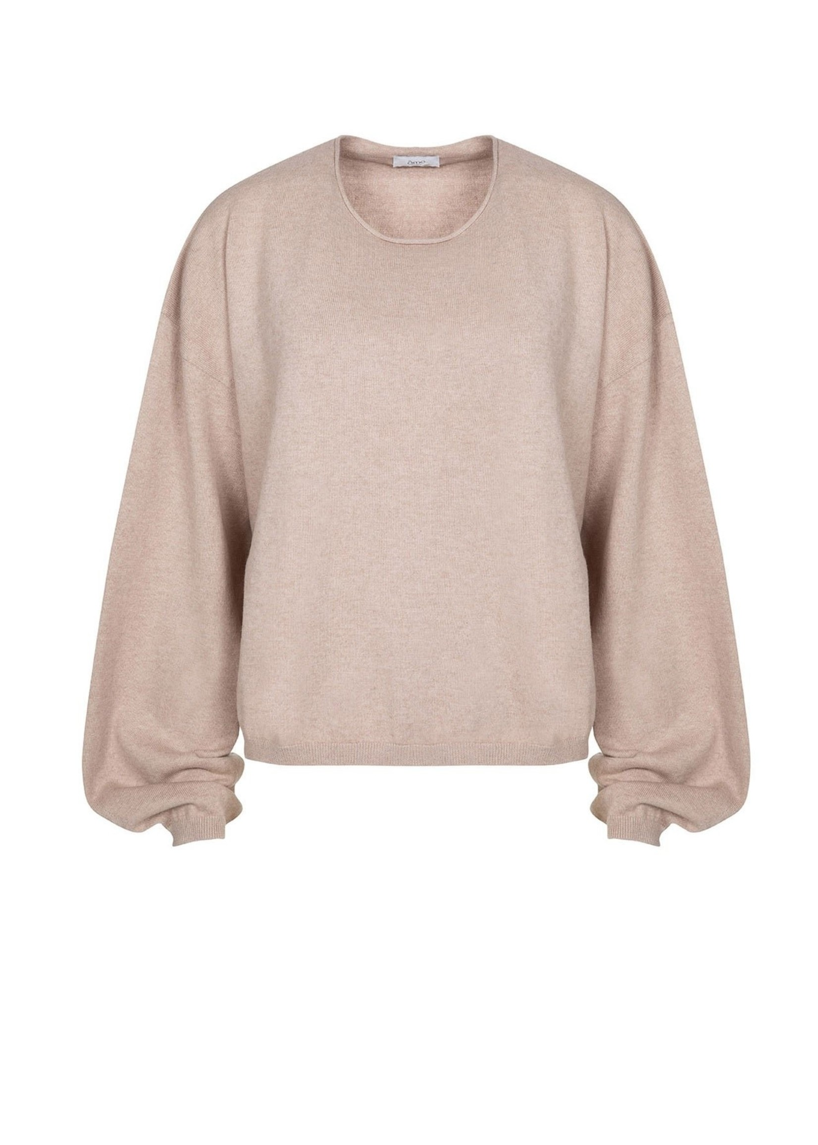 COTTON CASHMERE PUFF SLEEVES KNIT