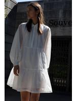 VICHY DRESS WHITE