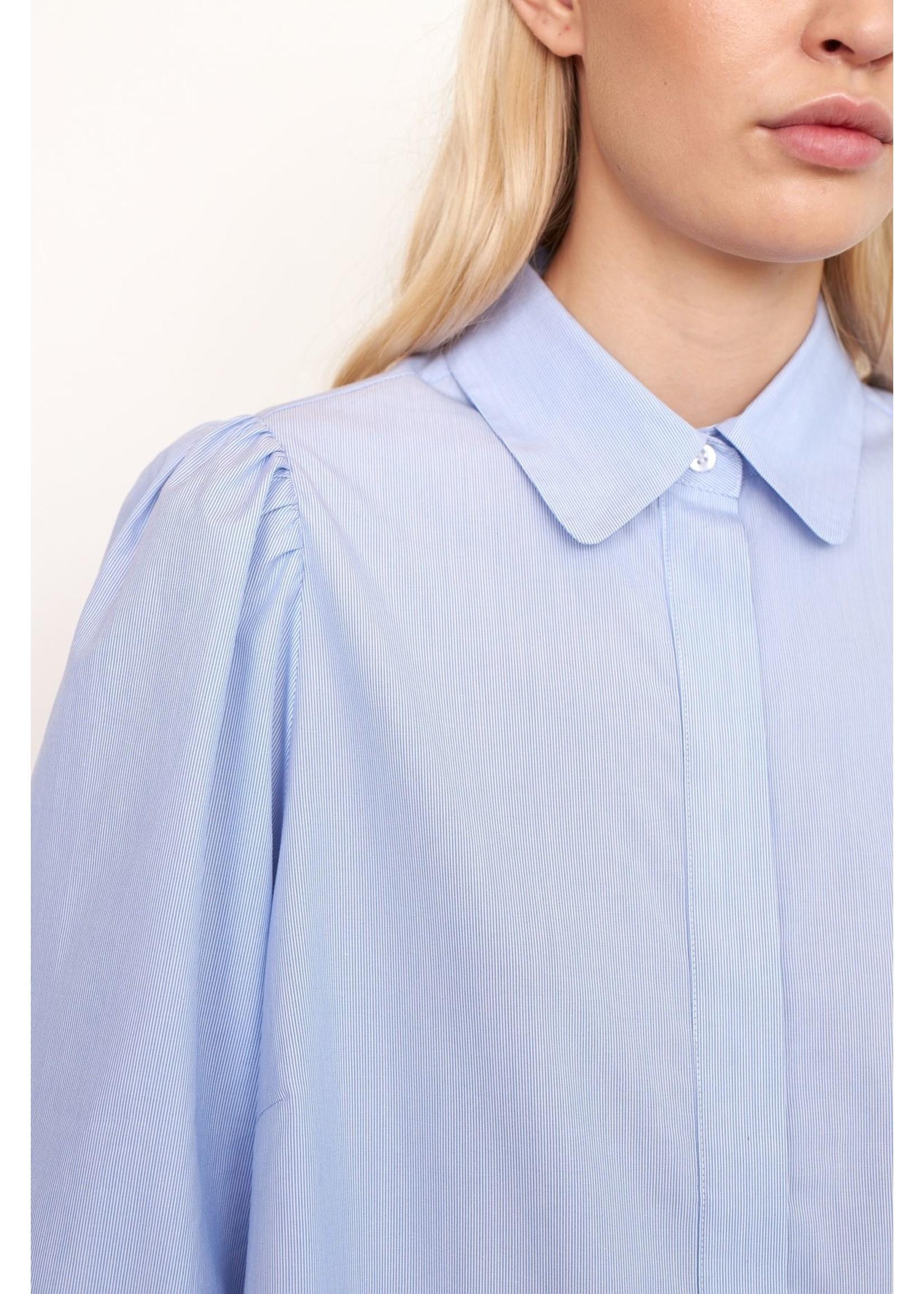 FINE STRIPED SHIRT DRESS