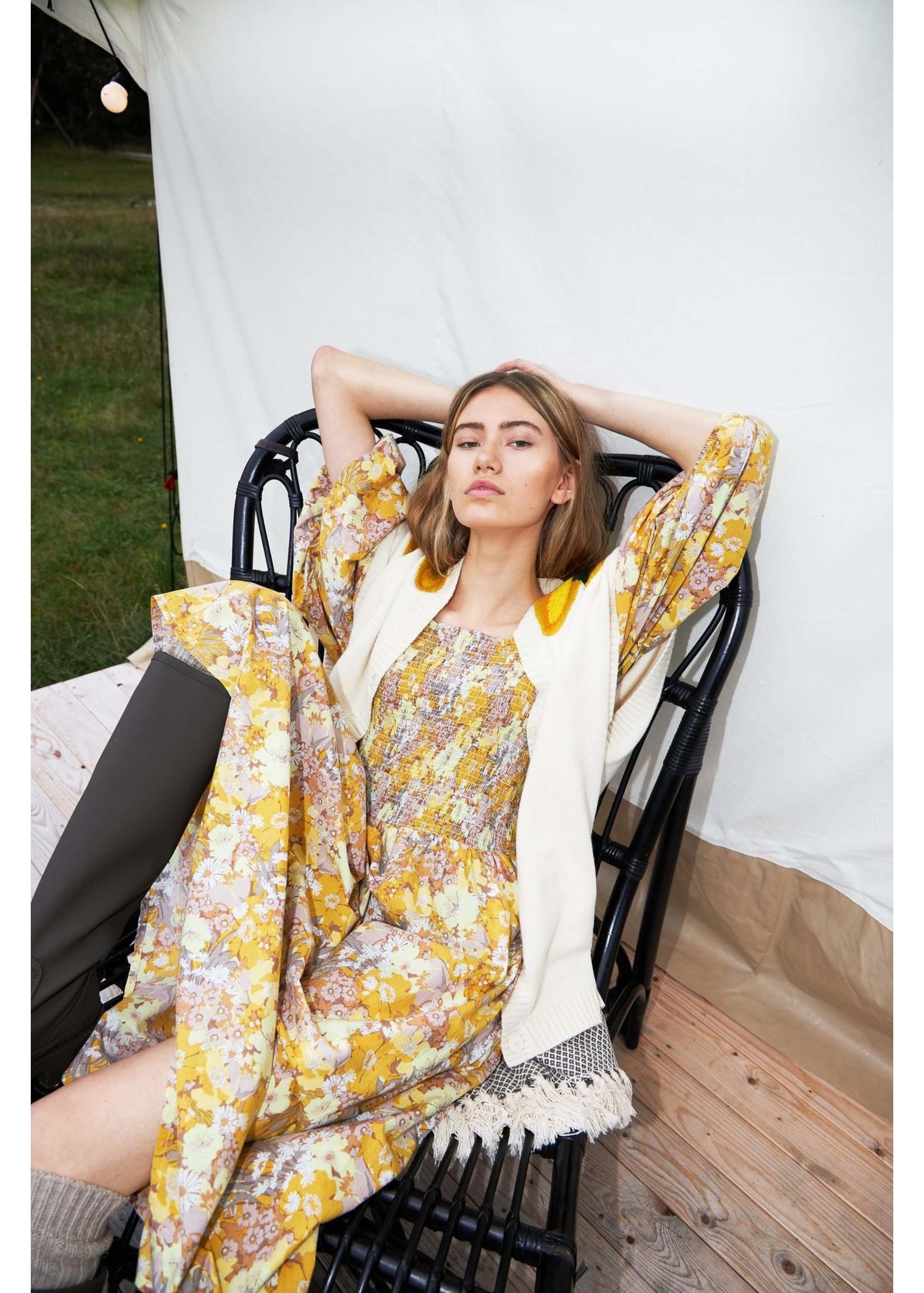 BALLOON SLEEVE SMOCK DRESS