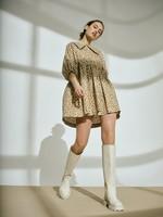 COLLAR SHORT DRESS