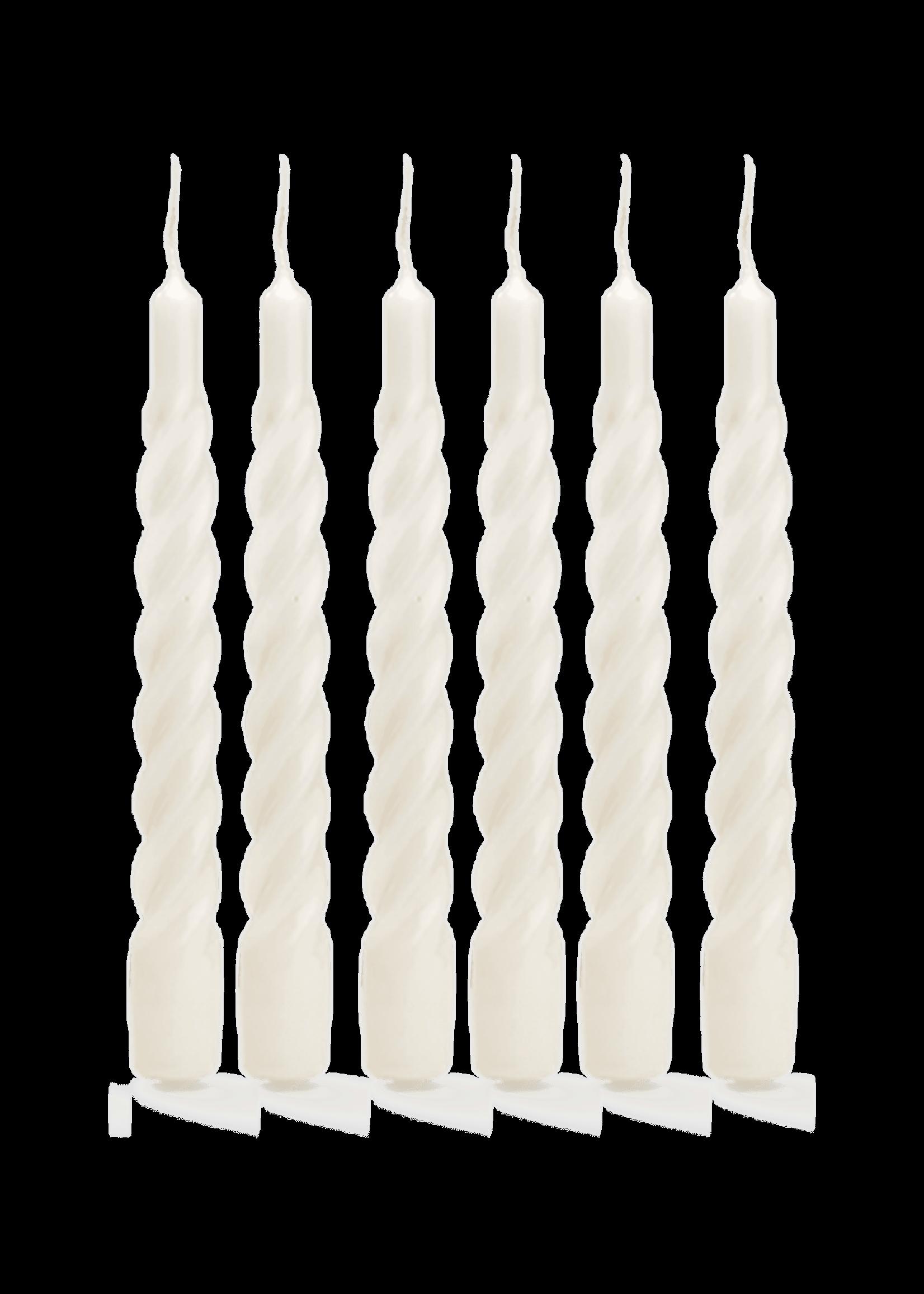 TWISTED CANDLE SHINY WHITE