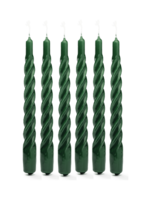 TWISTED CANDLE DARK GREEN