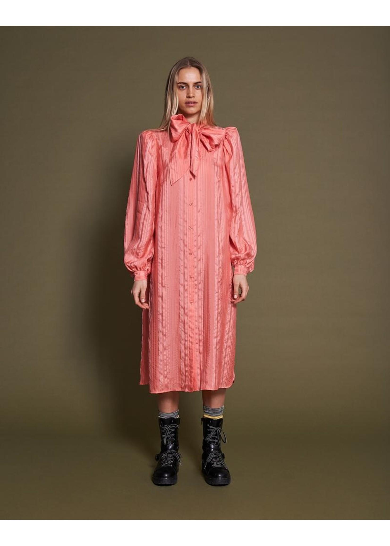 SILK BOW DRESS