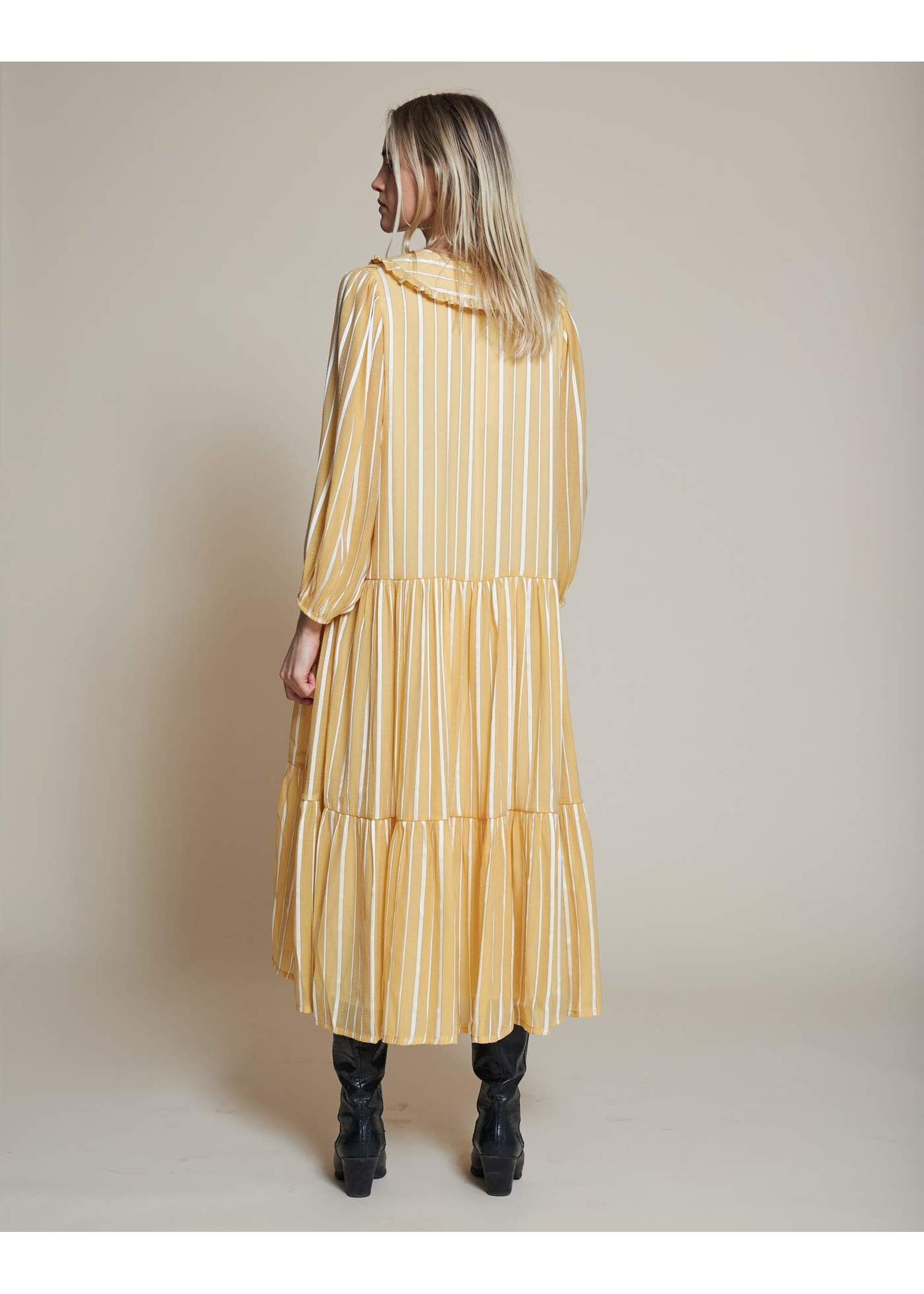 V COLLAR DRESS