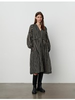 STRUCTURED CHECK DRESS
