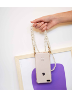 IPHONE CASE WITH DOUBLE PEARL