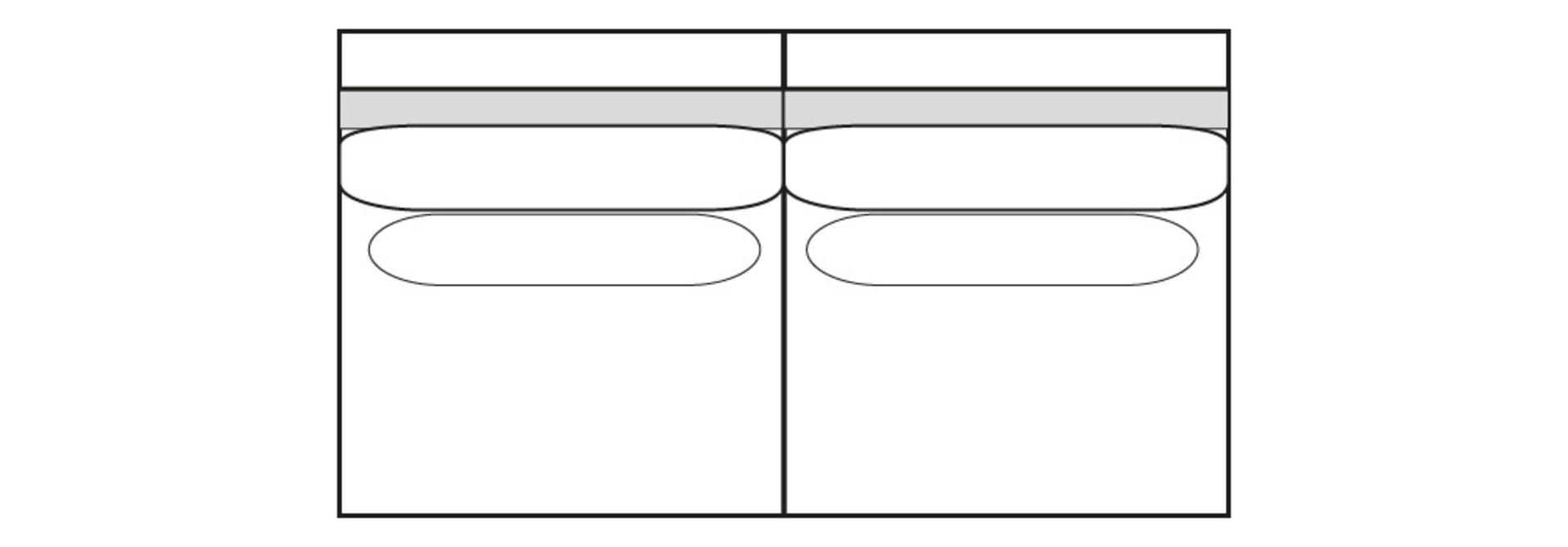 CLASSIC PARK 2,5-zits (zonder arm)