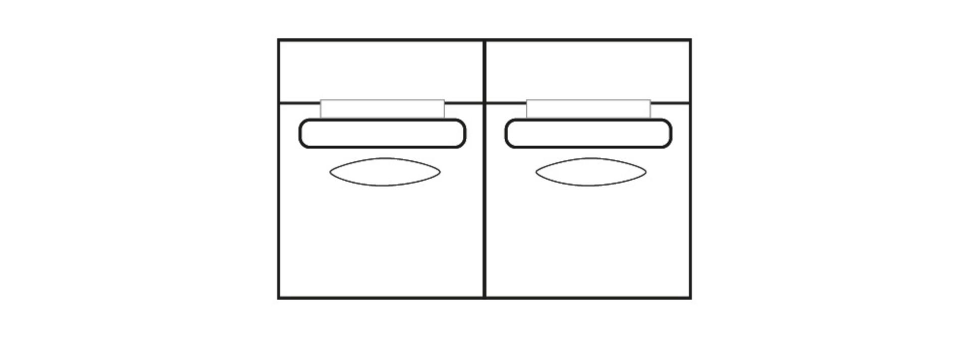 ELEGANT PARK 2-zits L (zonder armen)