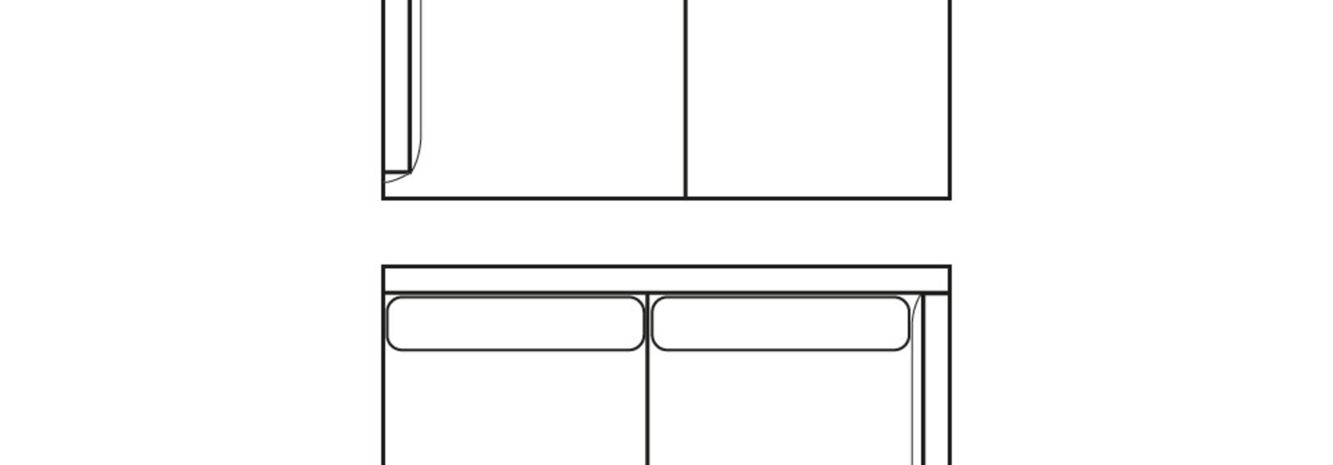 MINIMAL LOFT 2-zits (arm L/R)