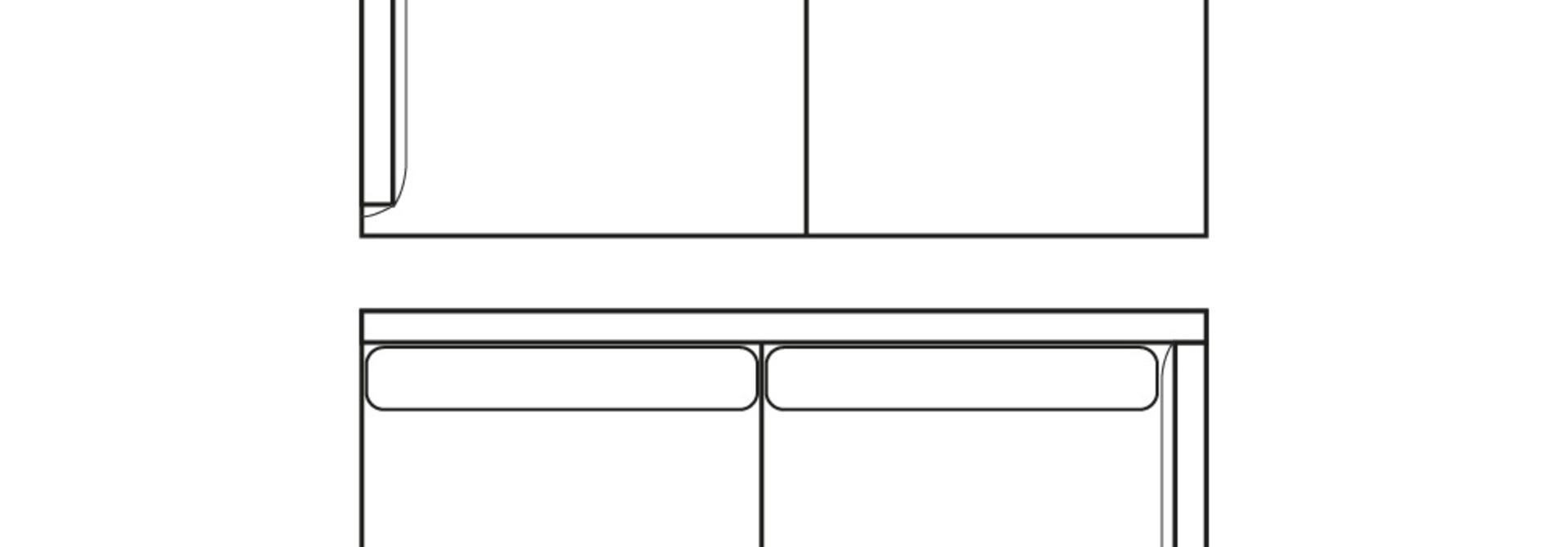 MINIMAL LOFT 3-zits (arm L/R)