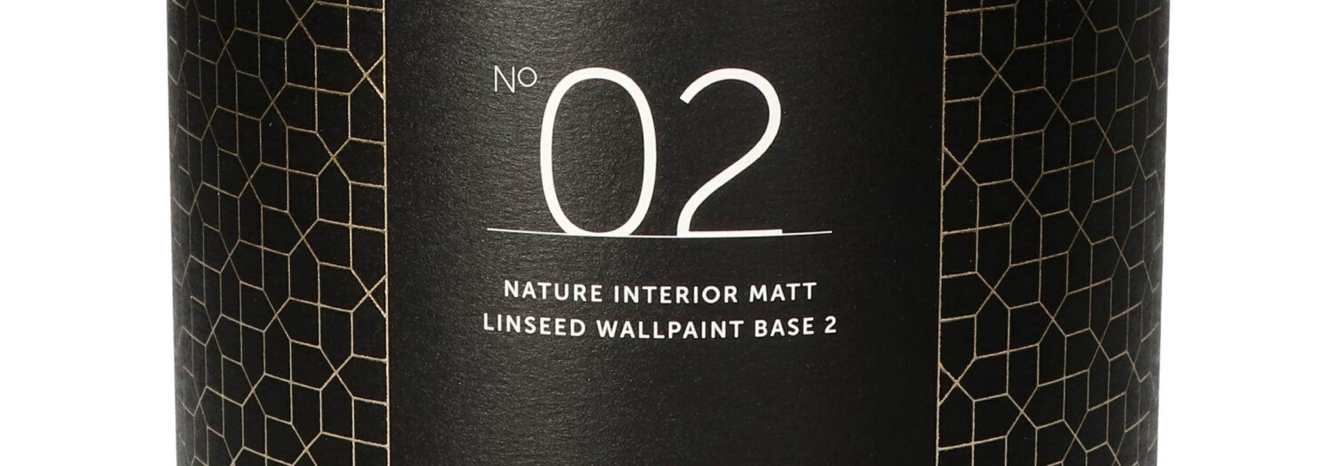 No. 02 NATURE INTERIOR MATT LINSEED WALLPAINT