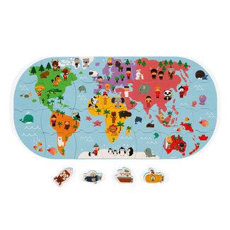 Janod Wereldkaart voor in bad