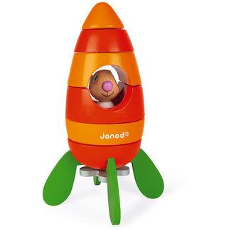Janod Speelgoed, Magneten - magnetenset Lapin wortelraket