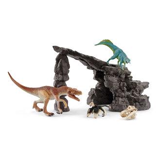 Schleich Schleich dinosaurus kit met grot