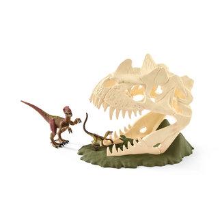 Schleich Schleich grote schedelvalstrik met velociraptor