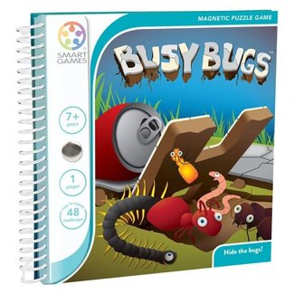 SmartGames Magneet puzzel, spel - Busy Bugs (48 opdrachten)