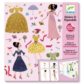 Djeco Djeco Small gifts - Stickers Paper dolls - Dresses through the seasons