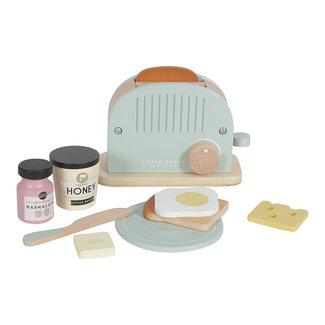 Little Dutch Little Dutch Houten speelgoed, Keuken accessoires - houten speel broodrooster 10-delig