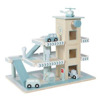 Little Dutch Little Dutch Houten speelgoed, Auto's - houten auto garage blauw