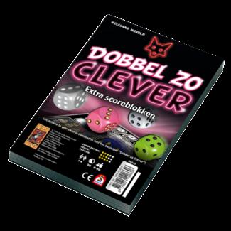 999 Games Scoreblokken Dobbel zo Clever twee stuks - Dobbelspel