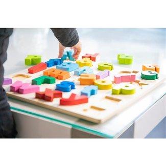 Puzzels, Houten puzzels - educatieve puzzel alfabet kleine letters