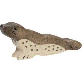 Holztiger zeedieren:zeerobkopomhoog14x3x6cm,hout