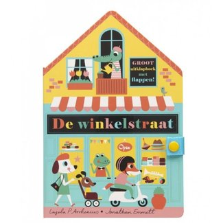 Gottmer Gottmer Boeken, Karton boeken - Flapjesboek, leperollo De winkelstraat (3+ jr.)