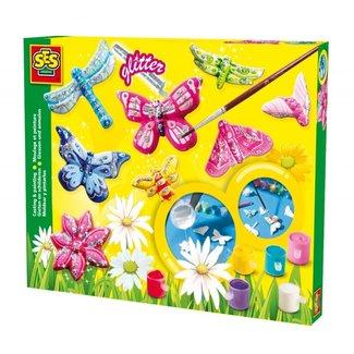 SES Gieten en schilderen - vlinders glitter