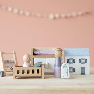 Little Dutch Poppenhuis accessoires - uitbreidingsset babykamer