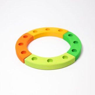 Grimms Small Birthday Ring Green-Orange