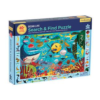 Mudpuppy Puzzels, Legpuzzels - zoek en vind puzzel onderwaterwereld, 64 stukjes (Ocean Life)