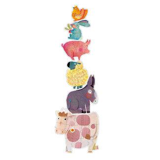 Djeco Puzzels, Vloerpuzzels - kinderbierderij dieren, 9-12-15 stukjes (puzzle géant Dandelion & friends)