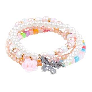 Great Pretenders Pearly Butterfly Bracelet Set