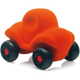 Rubbabu Kleine grappige auto oranje
