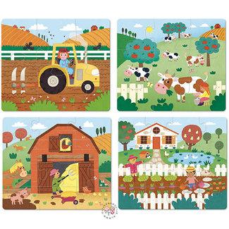 Vilac Houten groeipuzzel - boerderij