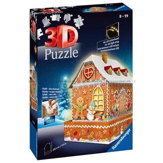 Ravensburger Ravensburger 3D puzzels Gingerbread House - night edition