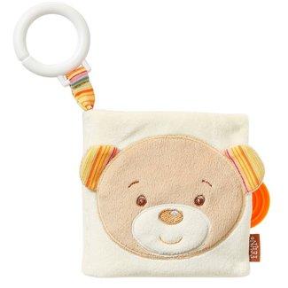 Fehn Rainbow - Soft Book teddy with ring