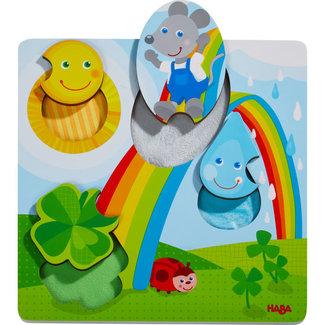 HABA Puzzels, Houten puzzels - voelpuzzel Muis