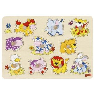 Knopjespuzzel - dieren baby's