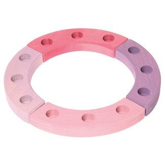 Grimms Kleine verjaardagsring roze/paars (12 gaten)