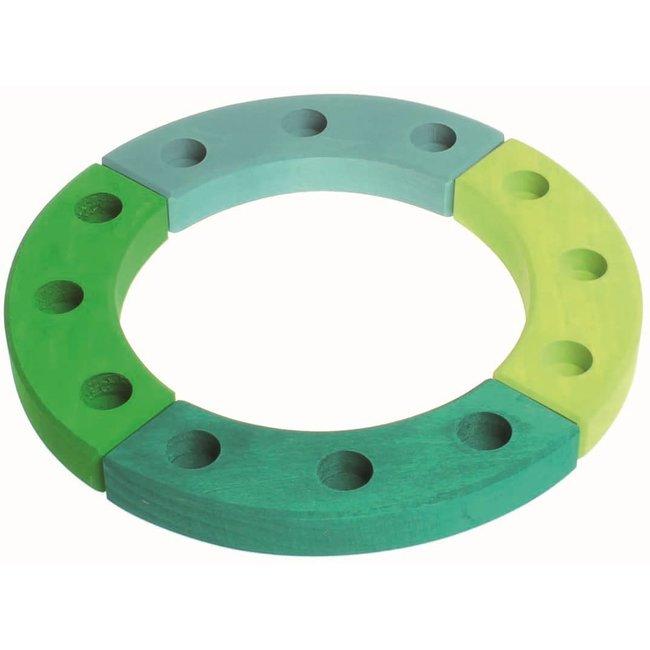 Grimms Kleine verjaardagsring groen/blauw (12 gaten)