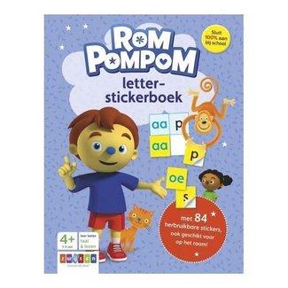 Zwijsen Rompompom letter stickerboek. 4+