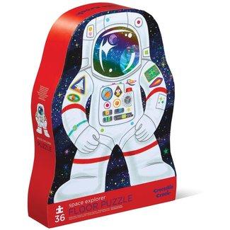 Crocodile Creek Puzzels, Vloerpuzzel - astronaut, 36 stukjes (Space Explorer)