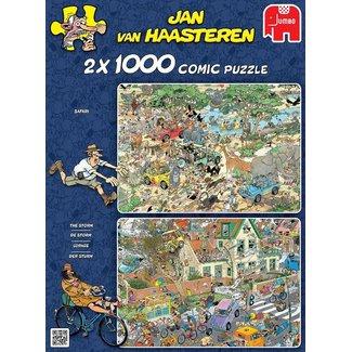 Jumbo Jan van Haasteren - Safari & Storm 2in1, 2x1000 stukjes
