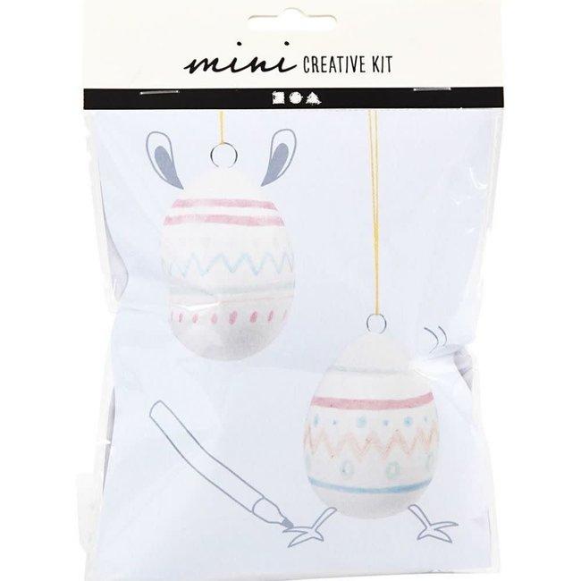 Creativ Company Knutselpakket - tekenen en schilderen, hangende eieren